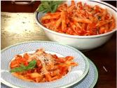 Penne With Mozzarella Eggplant Tomato Sauce